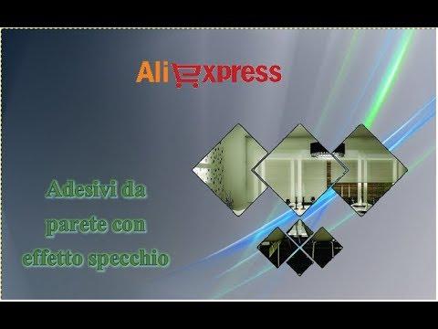Aliexpress unboxing haul - Adesivi da parete effetto specchio / Wall Stickers