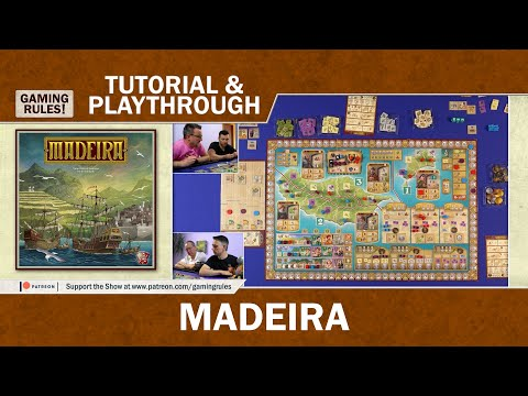 Madeira - Tutorial And Playthrough From Gaming Rules!