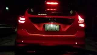 Ford Focus ST Hatchback Led Taillamp vs Stock OEM Tail