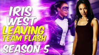 Iris West Leaves Team Flash? Season 5 Info From Pop Sugar Interview!