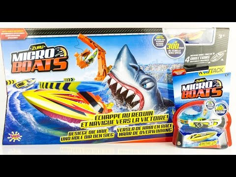 Zuru Micro Boats Racing Track Shark Attack Toy Review Juguetes Toys For Kids