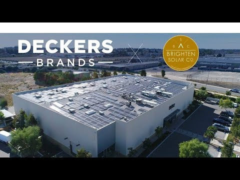 Deckers Goes Solar with Brighten Solar Co.