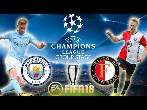 FIFA 18 Manchester City vs Feyenoord | Champions League Group Stage 2017/18 | PS4 Full Match