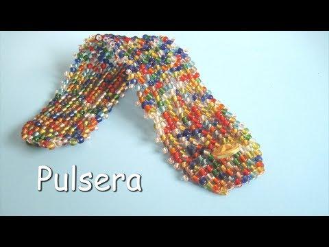 1194df07e3b8 DIY - Pulsera de mostacillas multicolori DIY - Multicolour beads ...