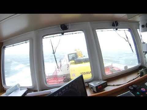 Rough seas encountered by Coaster Ship [Voyage Norway to UK]