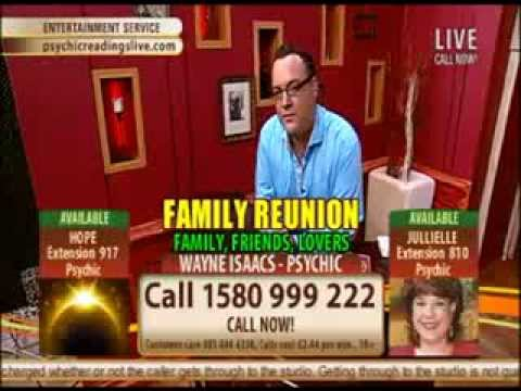 Ireland Channel TV3 Psychic Readings Live With Psychic Medium Wayne Isaacs