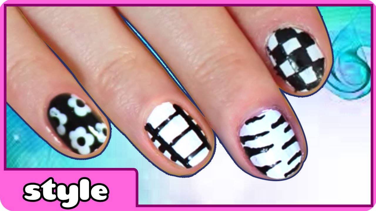 Monochrome Nails Collection   Black and White Nail Designs   Nail ...