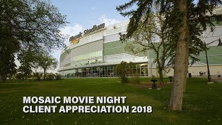 Shayla and Brett Ackerman - Client Appreciation Mosaic Stadium Movie Night 2018