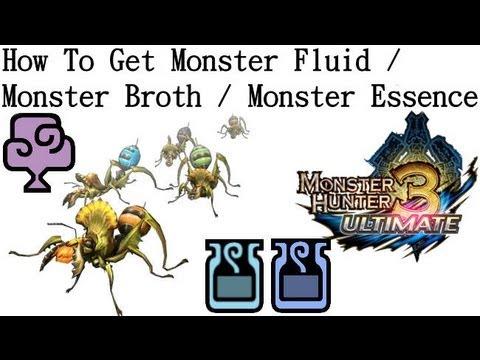 Monster Hunter 3 Ultimate Nintendo Wii U 3ds How To Get Monster Fluid Broth Essence Youtube