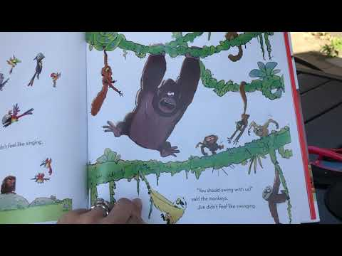 """Watch Ms. Campbell read """"The Grumpy Monkey"""" to the Burr School Community"""