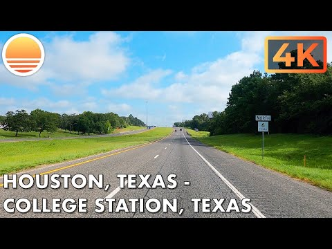 🇺🇸[4K60] Houston, Texas to College Station, Texas! 🚘 Drive with me on a Texas highway!