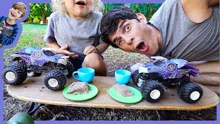 Axel Show Monster Trucks Pretend Play Tea Party for Children