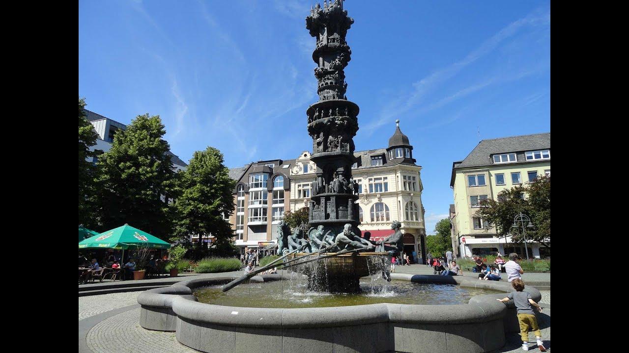 Города Германии, Кобленц, здания, парк, отдыха, туризма ...