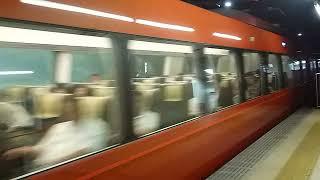 [警笛(ミュージックホーン)あり]小田急70000形GSE特急ロマンスカーモーニングウェイ74号 新宿駅到着