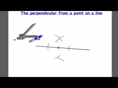 The perpendicular from a point on a line