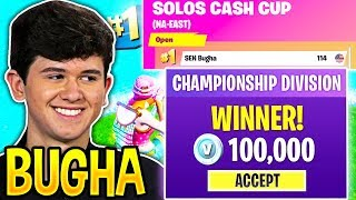 BUGHA *SHOCKS EVERYONE* Winning SOLO CASH CUP after THIS HAPPENED! (Fortnite)