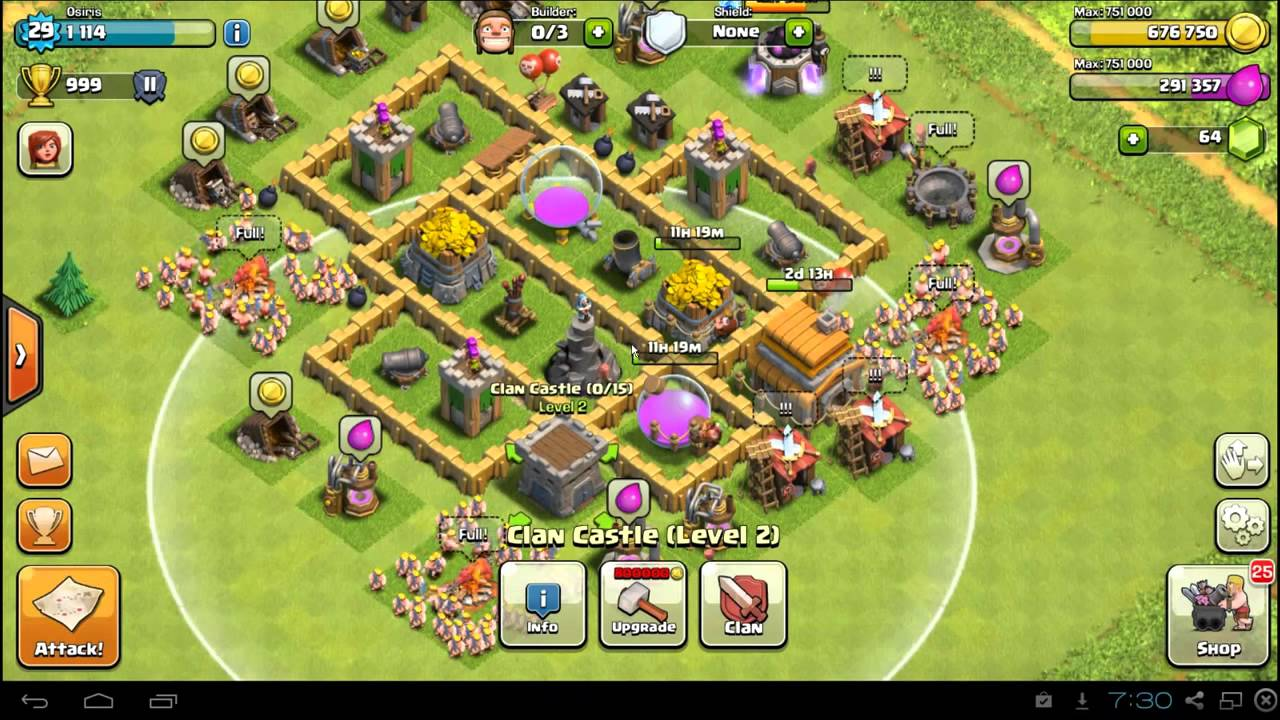Best base Clash of Clans Town Hall 5 Farming Defense Base Layout Best TH5  Setup new