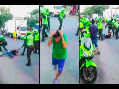 Operativo contra el transporte informal terminó en batalla campal en Girón | Noticias Caracol