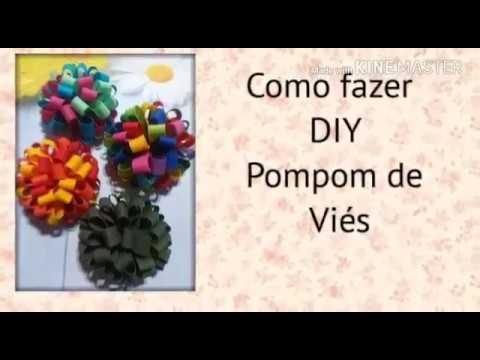 Como fazer pompom com viés / DIY
