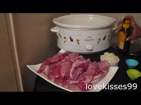 Easy Slow Cooker Pork Ribs Recipe..5 ingredients to Fabulous!!!!