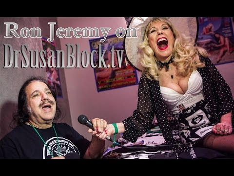 RON JEREMY chats with Dr Susan Block & plays harmonica @ the Hollywood Show