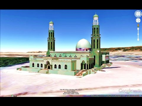 HISTORICAL PLACES OF OMAN IN GOOGLE EARTH PART ONE (1/2)