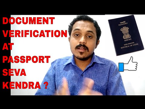 HOW DOCUMENT'S GET VERIFIED AT PASSPORT SEVA KENDRA? FULL IN