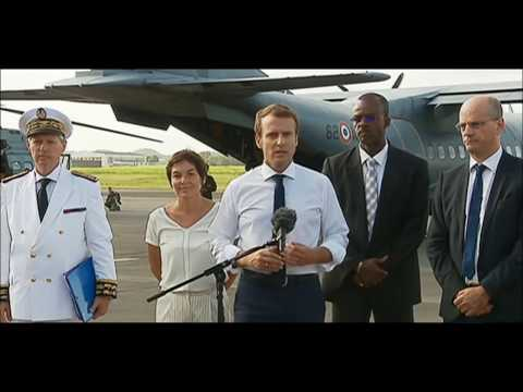 Macron en visite a St-Martin et St-barth