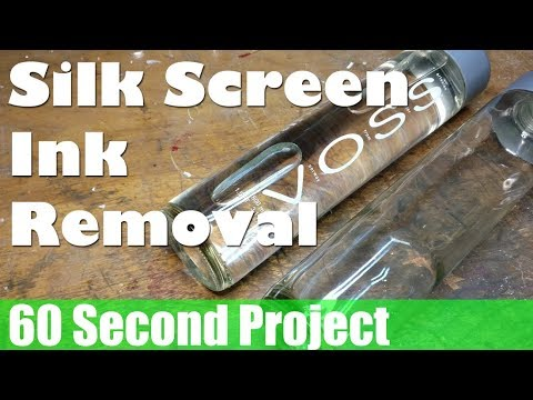 60s Project How To Remove Silk Screen Print Paintink From Glass