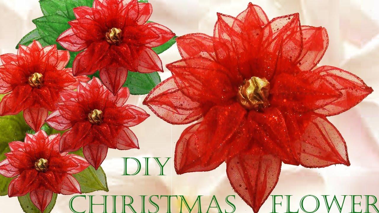Haz f cil lindas flores y decoraciones para navidad youtube for Adornos con plantas de nochebuena