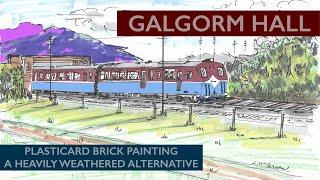 OO Göstergesi Modeli Demiryolu: Plasticard Tuğla Boyama, bina - Ağır Yıpranmış Alternatif