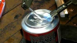 тест-драйв алюминиевого припоя(Купил припой для алюминия, на пробу. Проверка на банке., 2009-03-05T18:43:23.000Z)