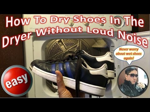 How To Dry Shoes In The Dryer Without