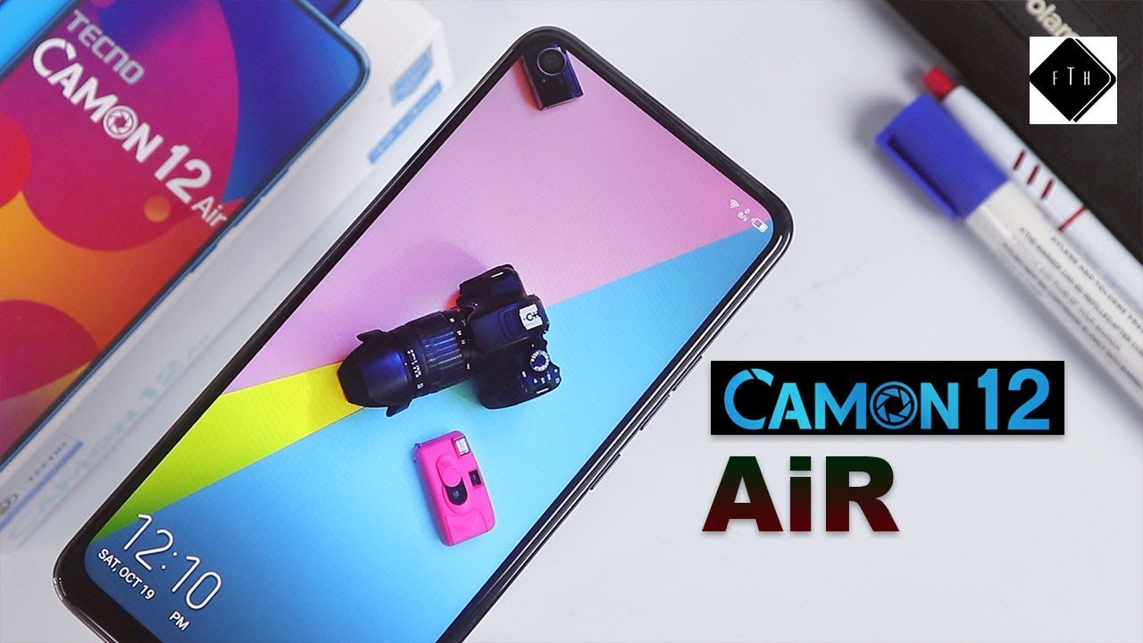 Download Tecno  Camon 12 Air Unboxing and Review!  A Tecno Device with a Dot Notch Display
