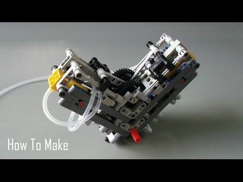How To Make a Lego Technic V2 Pneumatic Engine