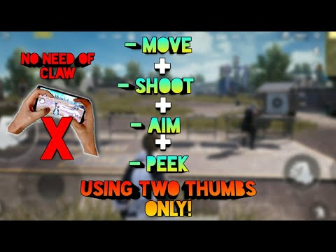 How To Move + Shoot + Aim + Peek Simultaneously Using Two Thumbs | No Need For Claw Anymore! PubgM