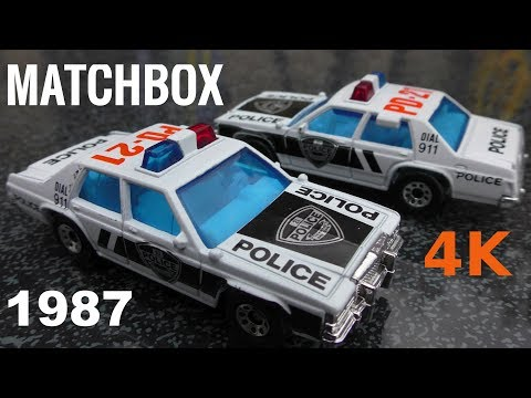 Matchbox 1:69 Police Ford 1987 - Made in Macau - Modellautos - Model cars 4K