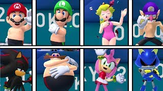 Mario and Sonic at the Olympic Games Tokyo 2020 - Swimming ( All Characters)