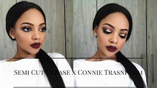 Semi Cut Crease Makeup Tutorial | Connie Transform | MIHLALI N