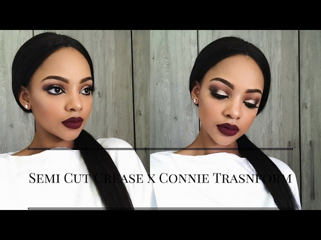 Semi Cut Crease Makeup Tutorial | Connie Transform | MIHLALI N
