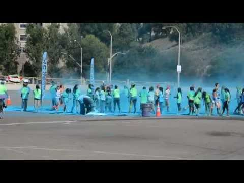 Color in Motion 5K Run San Diego 2013 Blue Station 1 of 4