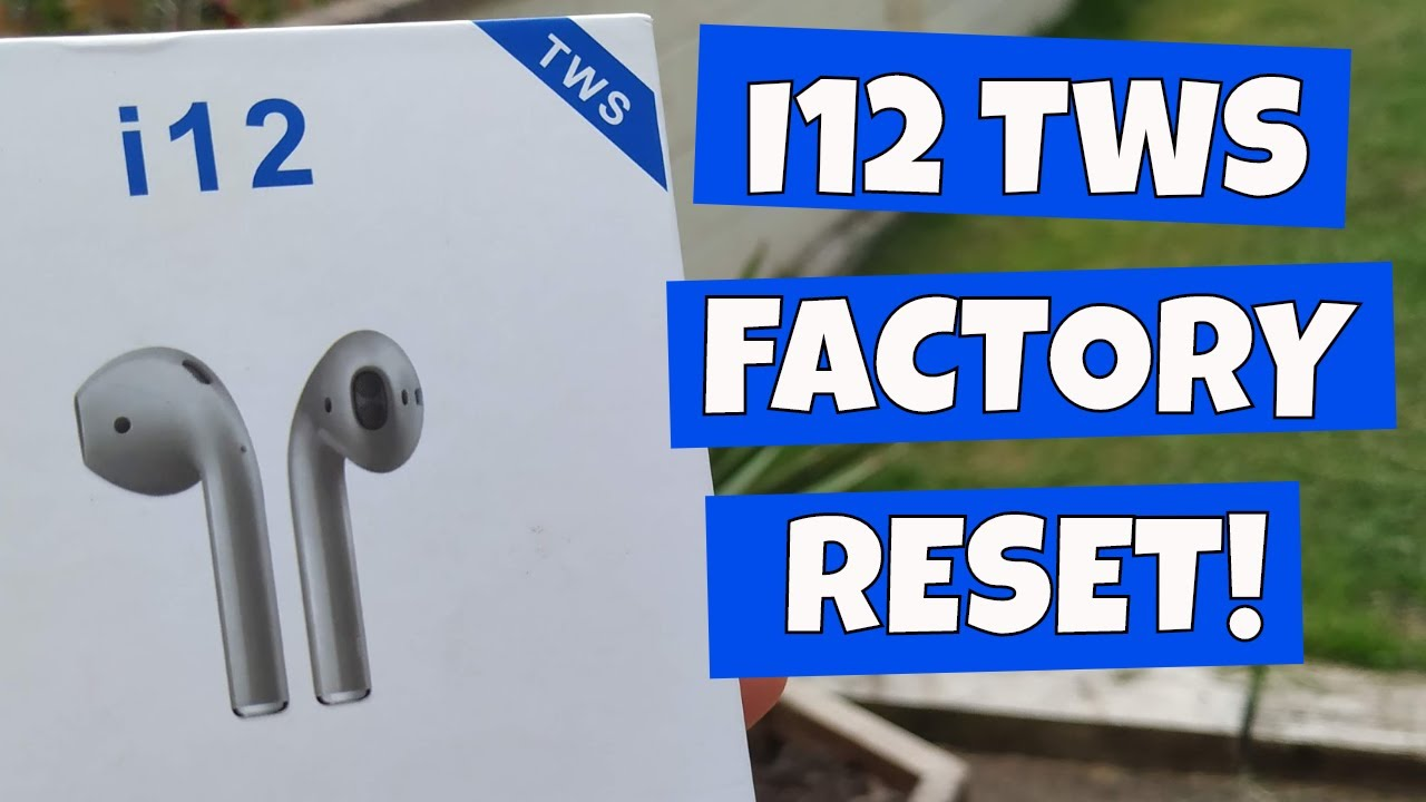 I12 TWS Blue Stripe Factory Reset and Charging fix