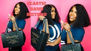Flawless Wig Application With ELASTIC BAND  ONLY | Ft. VIPWigs Review