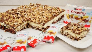 Kinder Country Kuchen ohne Backen | Kinder Country Schnitten