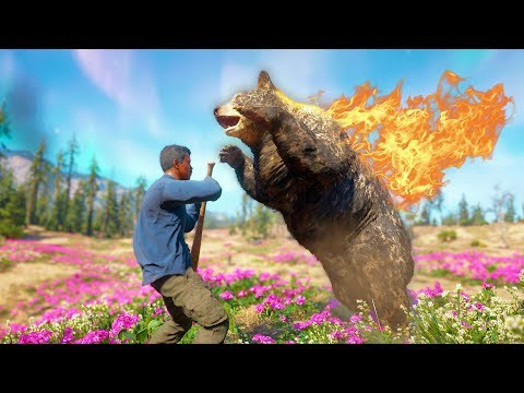 HE GOT ATTACKED BY A FREAKING FIRE BEAR!   Far Cry New Dawn