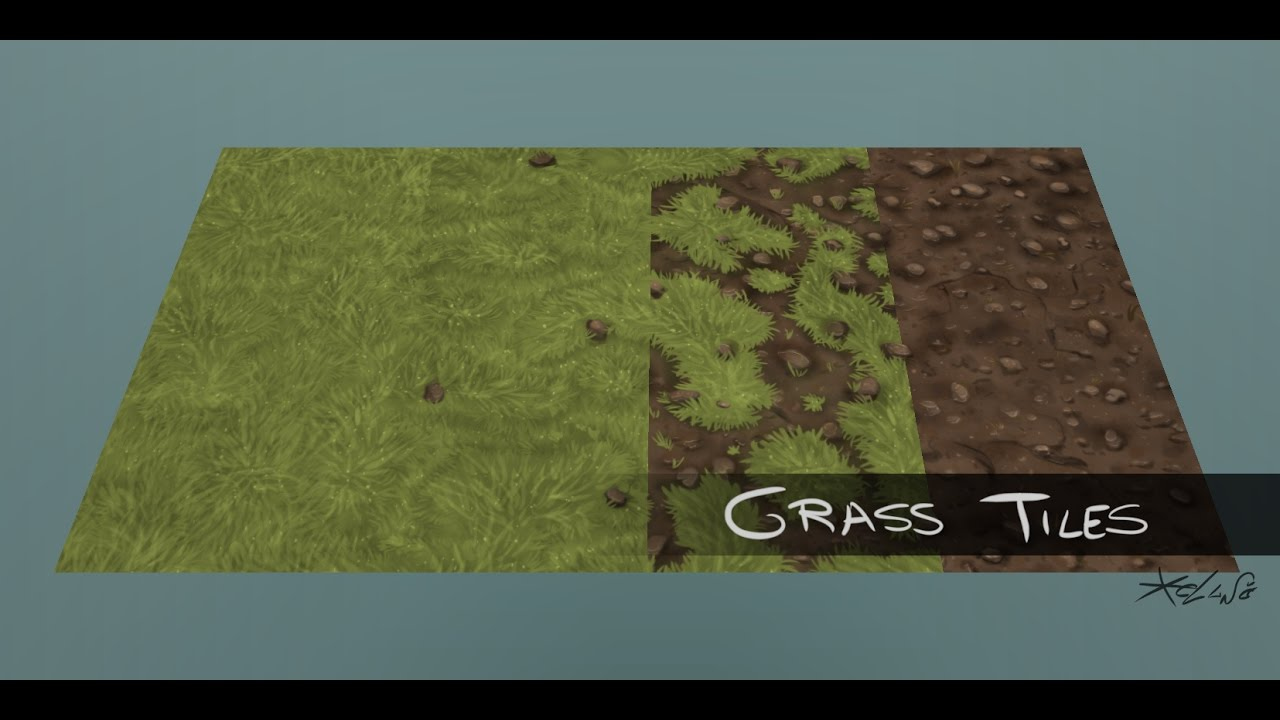 HandPainted Tileable grass textures YouTube