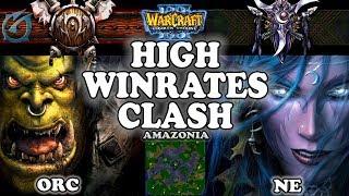 Grubby | Warcraft 3 TFT | 1.29 | ORC v NE on Amazonia - High Winrates Clash