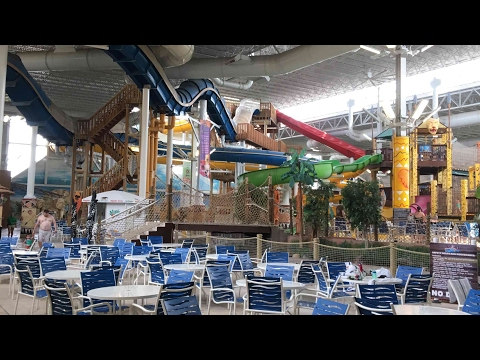 Kalahari Waterpark, Theme Park, and Waterfront Cabin Walkthrough and Review