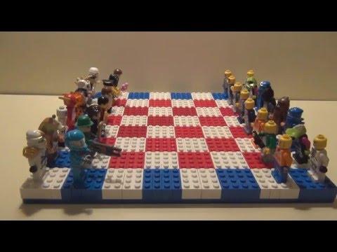 #Самоделка. Лего ШАХМАТЫ - Вот как надо играть.