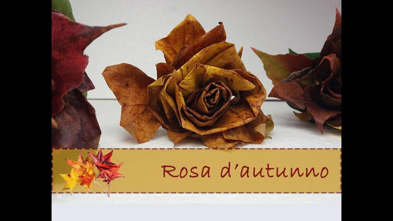 Rosa Secca Cosa Fare diy: come fare delle rose con foglie secche 🌹🍁autumn leaf crafts